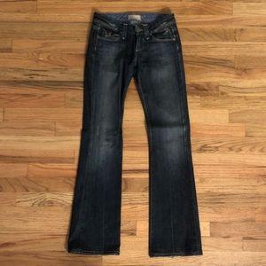 Paige jeans dark wash pico 24 straight boot cut